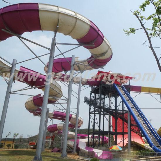 Fiberglass Family Raft Water Slide (WS-053)