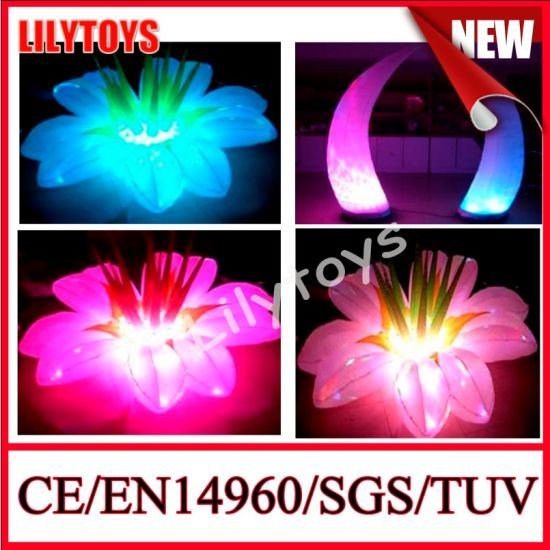 Inflatable Flower with Colorful LED pictures & photos