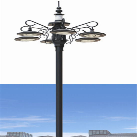 Outdoor Street Post Lights: China Cast Iron Tapered Outdoor Light Pole, Street Lamp