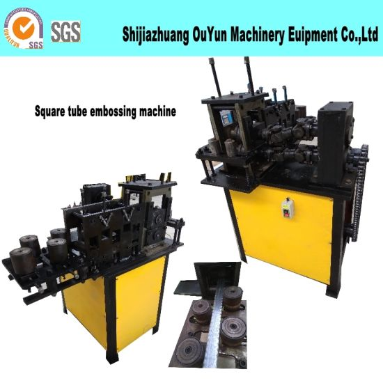 Wrought Iron Embossing Machine/Square Tube Hammered Edge Embossing Machine pictures & photos
