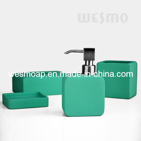 Green Rubber Oil Coated Bathroom Set (WBC0809A)