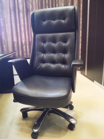 Superieur Antique Luxury Swivel Ergonomic Genuine Leather Executive Boss Chair