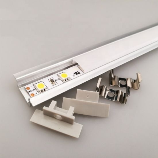 Aluminum LED Light Strip Housings Fixture Channel Diffuser