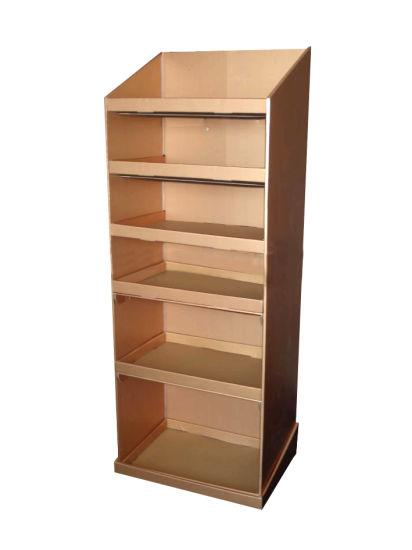 Cardboard Display Shelf Paper Storage Rack Bookshelf