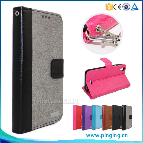 PU Leather Wallet Case for Alcatel One Touch Pixi3 4.5 Ot4027 Phone Cover pictures & photos