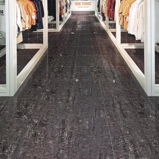 China Black Granite Sparkle Matte Finish Floor Ceramic Tiles With