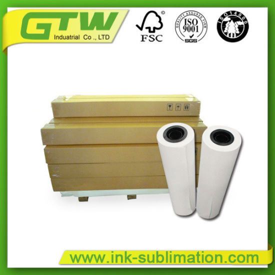Industrial 100GSM Sublimation Transfer Paper for Digital Printing