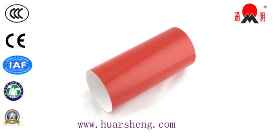 Acrylic Red Surface High Intensity Grade Reflective Material for Roda Safety (TM1800) pictures & photos