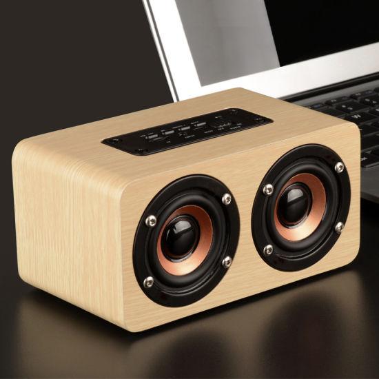 Wholeasle W5 Wooden Wireless Bluetooth Speaker