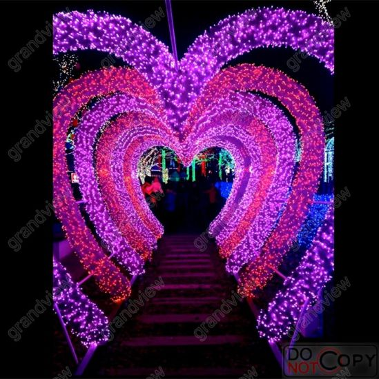 Heart Design LED Holiday Light for Wedding Decoration with LED String Light