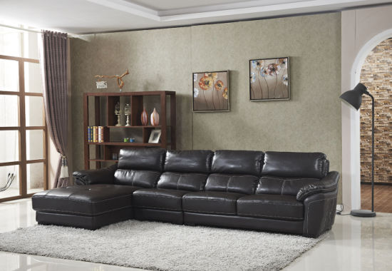 2017 Modern Furniture Sectional Leather Living Room Leisure Couch pictures & photos