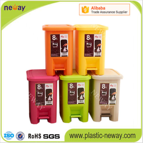 Household Press Type Plastic Trash Can pictures & photos