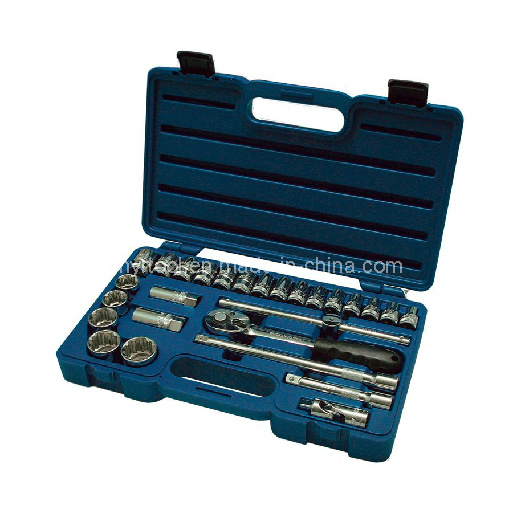 27-Piece Standard (SAE) and Metric Mechanic′s Tool Set with Hard Case pictures & photos