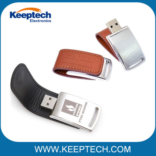 2018 Delicate Leather USB Flash Drive for Noble Gift