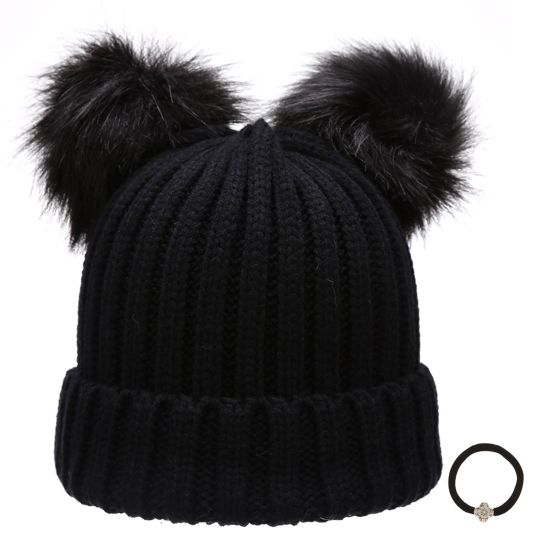 China Ball Top Knitted Hat White Custom POM POM Beanie Hat - China ... 8b14259d9b3