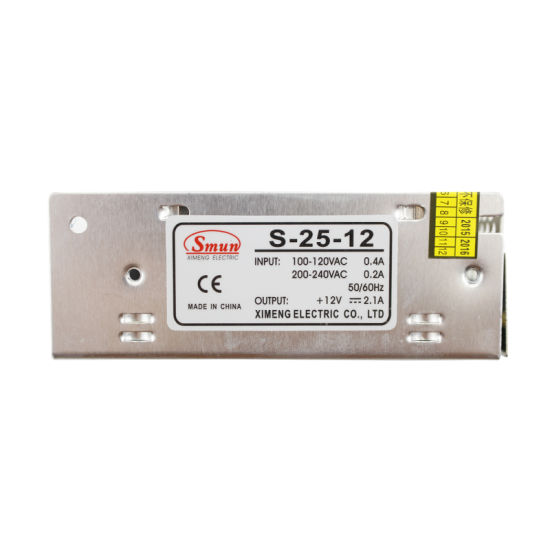 Smun 25W 12VDC Power Supply for LED Lighting LED Strip pictures & photos