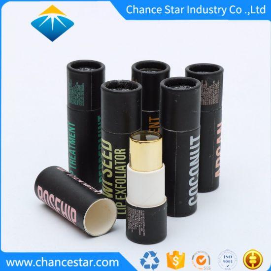 Custom Biodegradable Paper Cosmetics Black Lipstick Tube