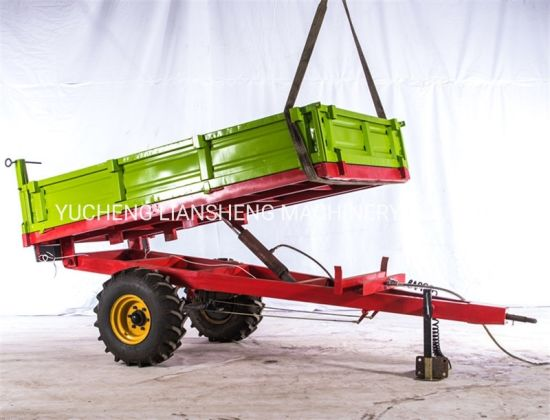 Wide Tire Farm Dumping Trailers for Sale in China Implement