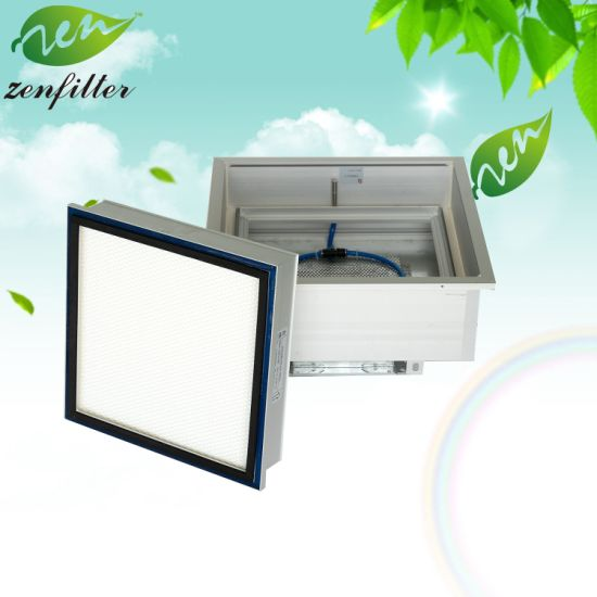 HVAC Ceiling Mounted Air Outlet HEPA Filter Box for Ventilation Systems