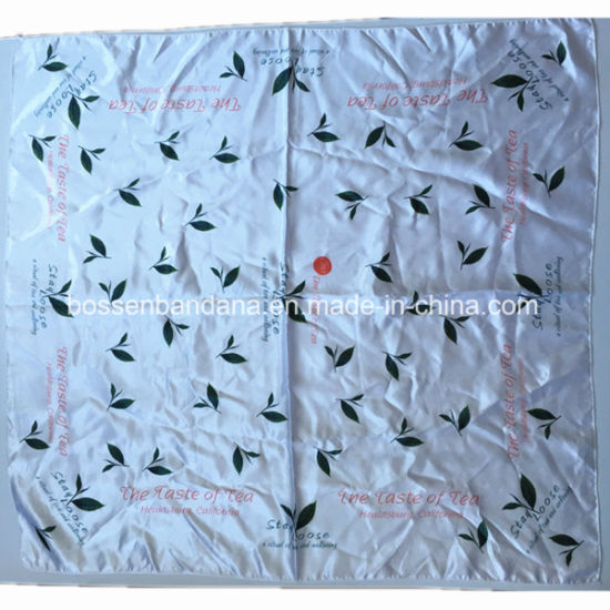 China Factory Produce Custom design Print Large Satin Silk Like Bandana pictures & photos