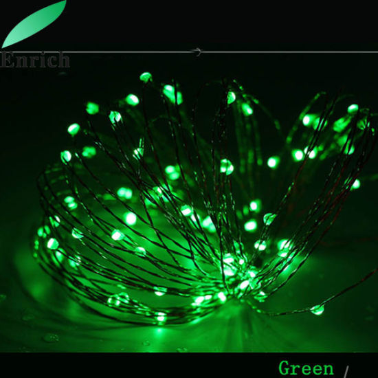 DC12V Copper Wire/Silver Wire LED String Light with Adapter for Christmas Decoration pictures & photos