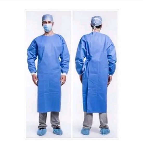 Custom SMS Breathable Antibacterial Fluid-Resistant Disposable Surgical Gowns