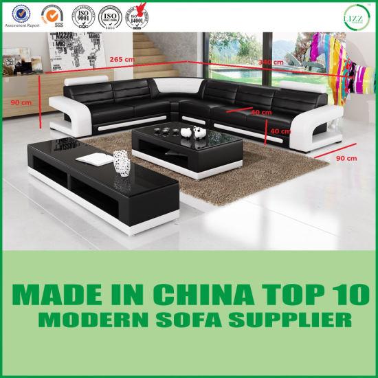 Modern Furniture L Shape Corner Red Leather Sofas