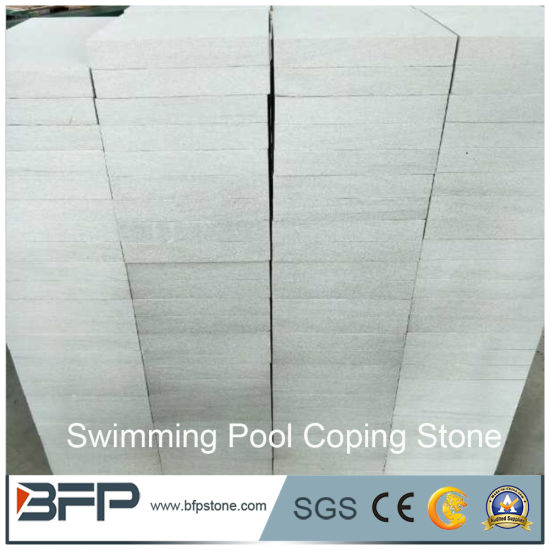 Cut-to-Size Stone Form White Sandstone Swimming Pool Coping Stones