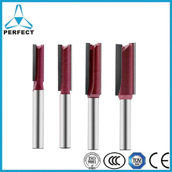 """1//2/"""" x 3//8/"""" Carbide Tip TCT Double Flute Straight Router Bit Cutter Cutting Tool"""