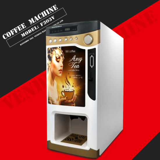 Cheap Price Automatic Coin Operated Coffee Vending Machine (F303V)