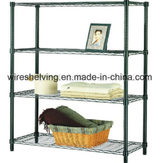4 Tier Heavy Duty Epoxy Wire Rack for Store Use with NSF Approved