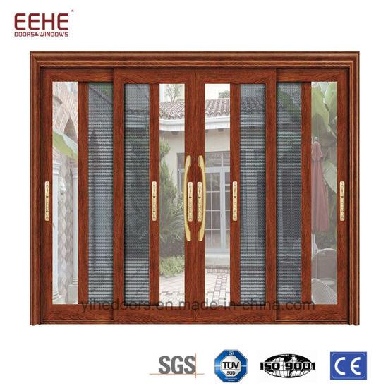 China New Design Aluminum Glass Sliding Door Interior Or Exterior