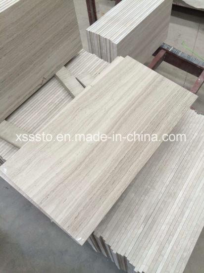 White Wood Grain Marble Tiles for Floor & Wall