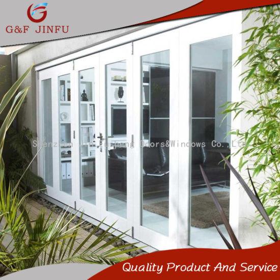 China Double Glazed Customized Aluminium Folding Door Balcony Patio