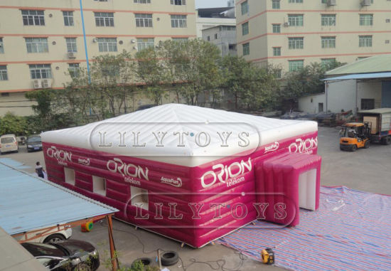 Outdoor Inflatable Party Tent, Giant LED Inflatable Cube Tent for Sports, Custom Inflatable Air Tight Tent for Sale pictures & photos
