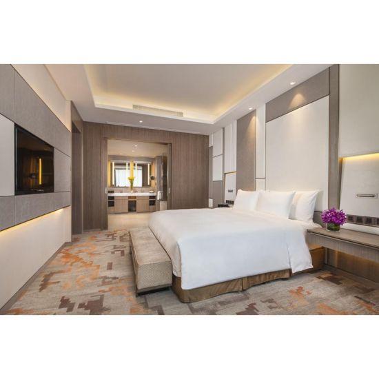 China Modern Bedroom Set Teak Wood Business Room Hotel Guest