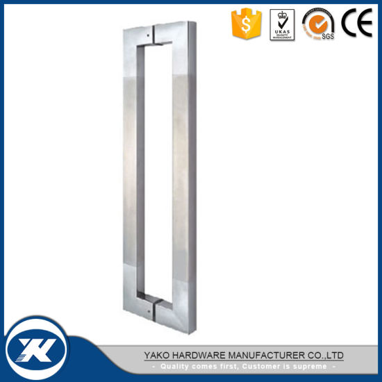China Commercial Stainless Steel 304 Square Glass Door Handle ...