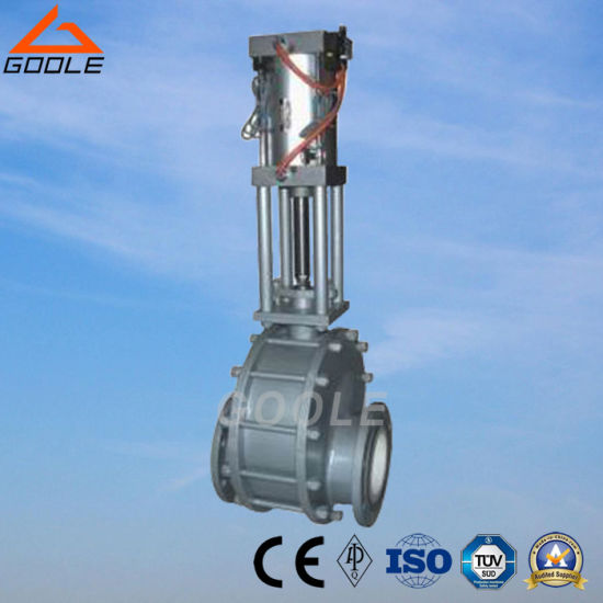 Pneumatic Ceramic Double-Disc Gate Valve (GZ644TC) pictures & photos