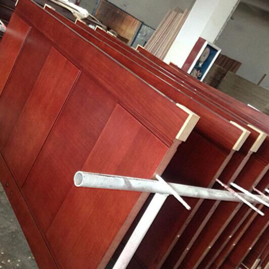 China Ecological Teak Wood Frame Panel Main Transparent Door