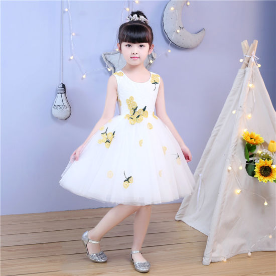 Ivory Lace Embroidery Flower Girl Dress