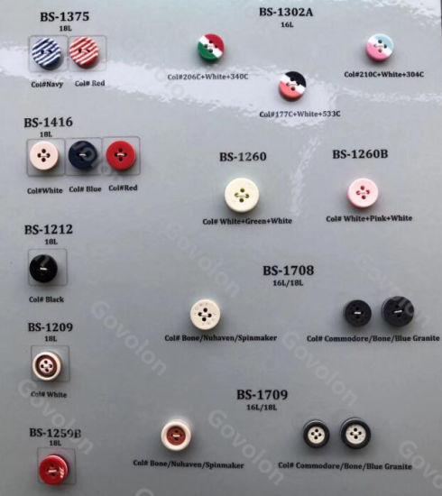 The Europe Style of Round Resin Button