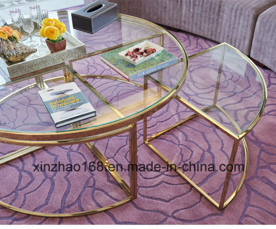 China Round Tempered Glass Coffee Table With Chrome Leg China - Round glass coffee table with chrome legs