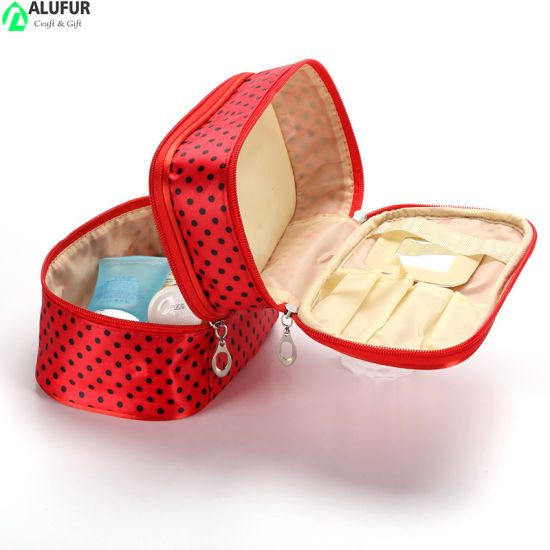 Multi Compartment Travel Makeup Cosmetic Case with Mirrow