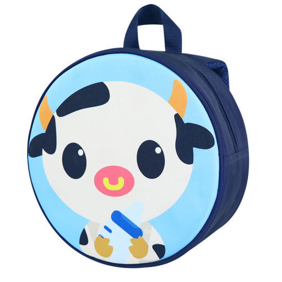 Wholesale Custom Cute Cartoon Calf Toddler Backpack Circle School Bags