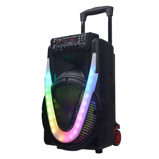 Private Disco LED Lights Karaoke Trolley Bluetooth Speaker