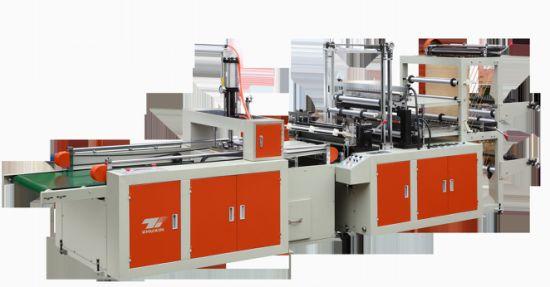 Single Layer Heat-Sealing & Heat Cutting Plastic T-Shirt Bag Making Machine
