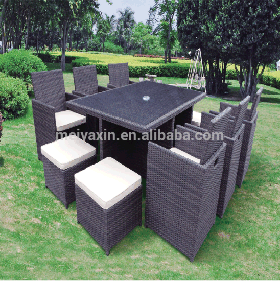 Outdoor Garden Patio Furniture Set Lounger Cover Waterproof Rattan Cube Table