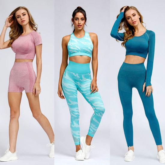 Wholesale Women's Best Yoga Leggings, Lady Sports Gym Wear, Yoga Gears, Design Fitness Suit with Yoga Waist Pants