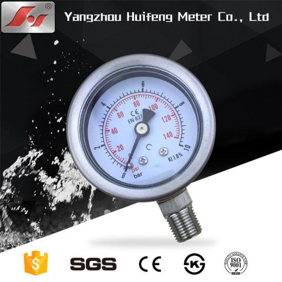 TIG Laser Welding Stainless Steel Dual Scale Pressure Gauge for Pneumatic Compressed Air Regulator