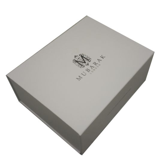 Huge White and Black Simple Decorated Gift Box for Packing